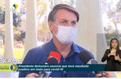 Bolsonaro testa positivo para a Covid e diz que toma a hidroxicloroquina