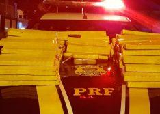 Picos: PRF apreende carregamento de 148 kg de maconha