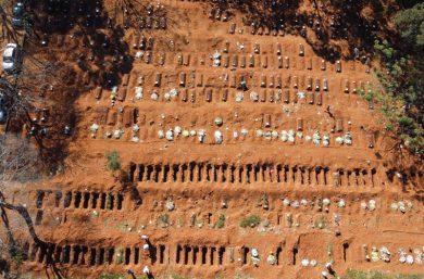 Brasil registra 1.058 novas mortes por Covid-19 e fica perto de 100 mil óbitos