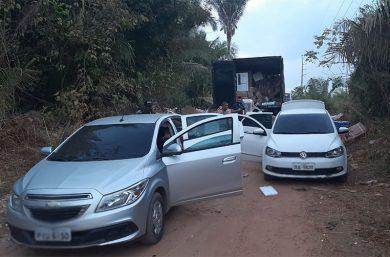 PI: Bando faz motorista refém para roubar carga de eletrodomésticos