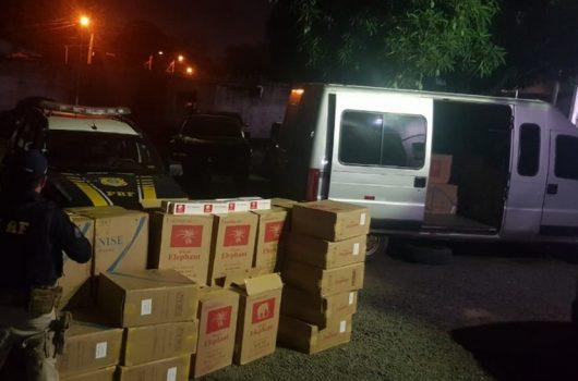 PRF apreende carga de cigarros avaliada em R$ 172 mil em Teresina