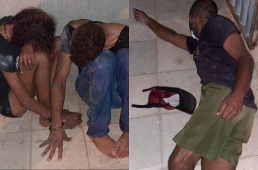 Trio é preso em flagrante acusado de arrombamento na Rua Coelho Rodrigues
