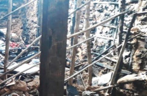 Criança de 3 anos tem 36% do corpo queimado durante incêndio em Parnaíba