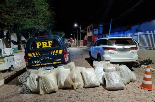 Alegrete: homem é preso na BR-316 com 300 kg de maconha escondida em veículo de luxo