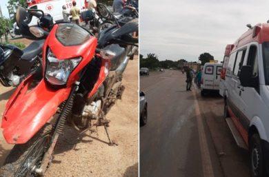 Idosa é atropelada por ambulância em Água Branca e fica gravemente ferida