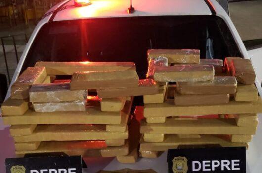 Mulheres são presas suspeitas de transportar 41 tabletes de droga em ônibus interestadual no Piauí
