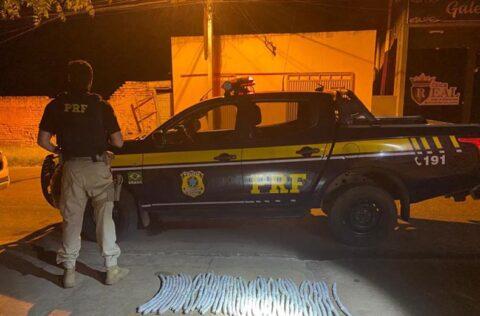 Valença do Piauí: dupla é presa com 48 explosivos na BR-316